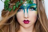 Beautiful Creative Fashion Makeup.Dryad.Mermaid — Photo