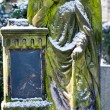 Sculpture of Angel at a old Prague cemetery — Stock Photo