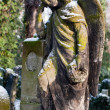 Sculpture of Angel at a old Prague cemetery - Foto Stock
