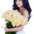 Royalty-Free Stock Photo: Beautiful young woman with flowers