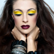 Beautiful woman with a bright make up. Fashion photo.Woman with - Stock Photo