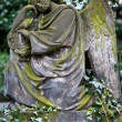 Sculpture of Angel at a Prague cemetery — Stock Photo