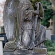 Sculpture of Angel at a old Prague cemetery — Stock Photo #22711487