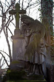 Sculpture of Angel at an old Prague cemetery — Stock Photo