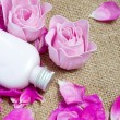 Natural soap and body milk from rose petals — Stock Photo #25905671