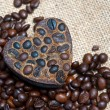 Aroma handmade soap and coffee beans — Stock Photo