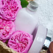 Natural soap and body milk from rose petals — Stock Photo #25905705