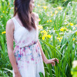 Stock Photo: Girl in the garden