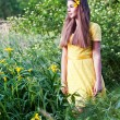 Girl in the garden — Stock Photo