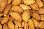 Almonds background — Stock Photo