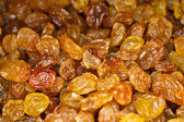 Close-up of yellow raisins. Top view point. — Stock Photo