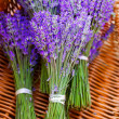 Stock Photo: Basket with a lavender