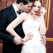 Fashion bride and groom — Stock Photo