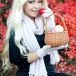 Smiling woman in autumn park — Stock Photo #29953617