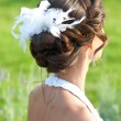 Wedding hairstyle. Bride. — Stock Photo