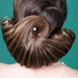 Foto Stock: Beauty wedding hairstyle. Bride