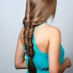 Creative braid hairstyle — Stock Photo