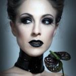 Gothic woman. Vampire. Halloween — Stock Photo