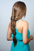 Creative braid hairstyle — Stock Photo
