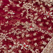 Closeup of red and golden embroidery on Indian saree — 图库照片
