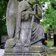 Sad angel statue on old cemetery — Stock Photo #49650453
