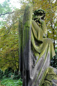 Sculpture of Angel at a Prague cemetery — Foto Stock