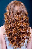 Curly Red Hair — Stock Photo