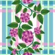 Retro rose pattern - Zdjcie stockowe