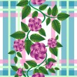 Retro rose pattern — Stock Photo