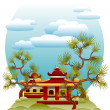 Feng Shui illustration — Stock Vector