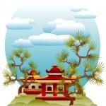 Feng Shui illustration — Stock Vector