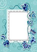 Süslü Ivy ile dekoratif kartı — Stok Vektör