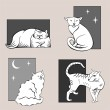 ������, ������: Funny cats sketches set one