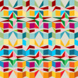 Seamless pattern with squares and triangles — Stock Vector #26935553