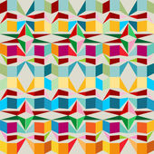 Seamless pattern with squares and triangles — Stock Vector