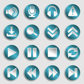 Set of multimedia icons — Stock Vector