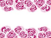 Dekoracyjne obramowania z różami — Zdjęcie stockowe