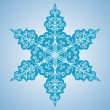 Snowflake six-sided pattern — Stock Vector