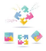 Puzzles set — Stock Vector