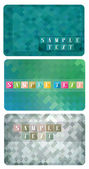Three variants of gift cards — Stock Vector