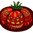 Stock Vector: Super Tomato