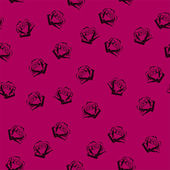Small roses seamless pattern — Stock Vector