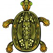 Stock Vector: Fancy Turtle