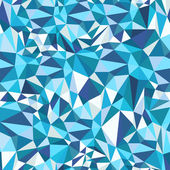 Blue Mosaic Triangles Pattern — Stock Vector