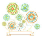 Floral Fireworks Illustration — Stock Vector