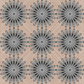Contrast Abstract Circles On Background — 图库矢量图片