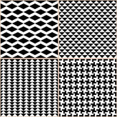 Black And White Patterns — Stock Vector
