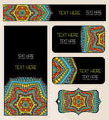 Branding Design Ethnic Pattern Set — Stock Vector