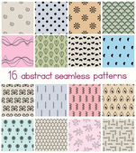 Different Shapes Seamless Patterns — Stock Vector