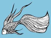 Fancy Fish — Stock Vector